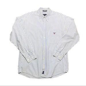 GANT New Haven Oxford Button-Up Dress Shirt - M